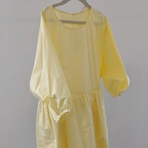 Yellow Zara Mini Dress w/ Skort Bottom